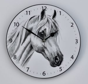 White Horse Wall Clock (CLK-EQ01)