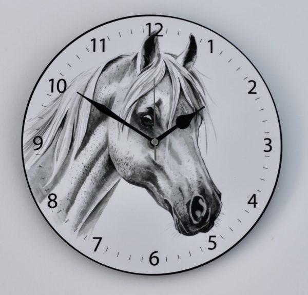 White Horse Wall Clock (CLK-EQ01)