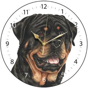 Rottweiler Dog Clock
