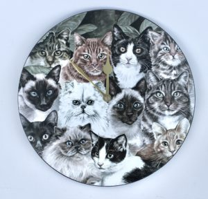 Cats Montage Wall Clock VCLK-CMTG