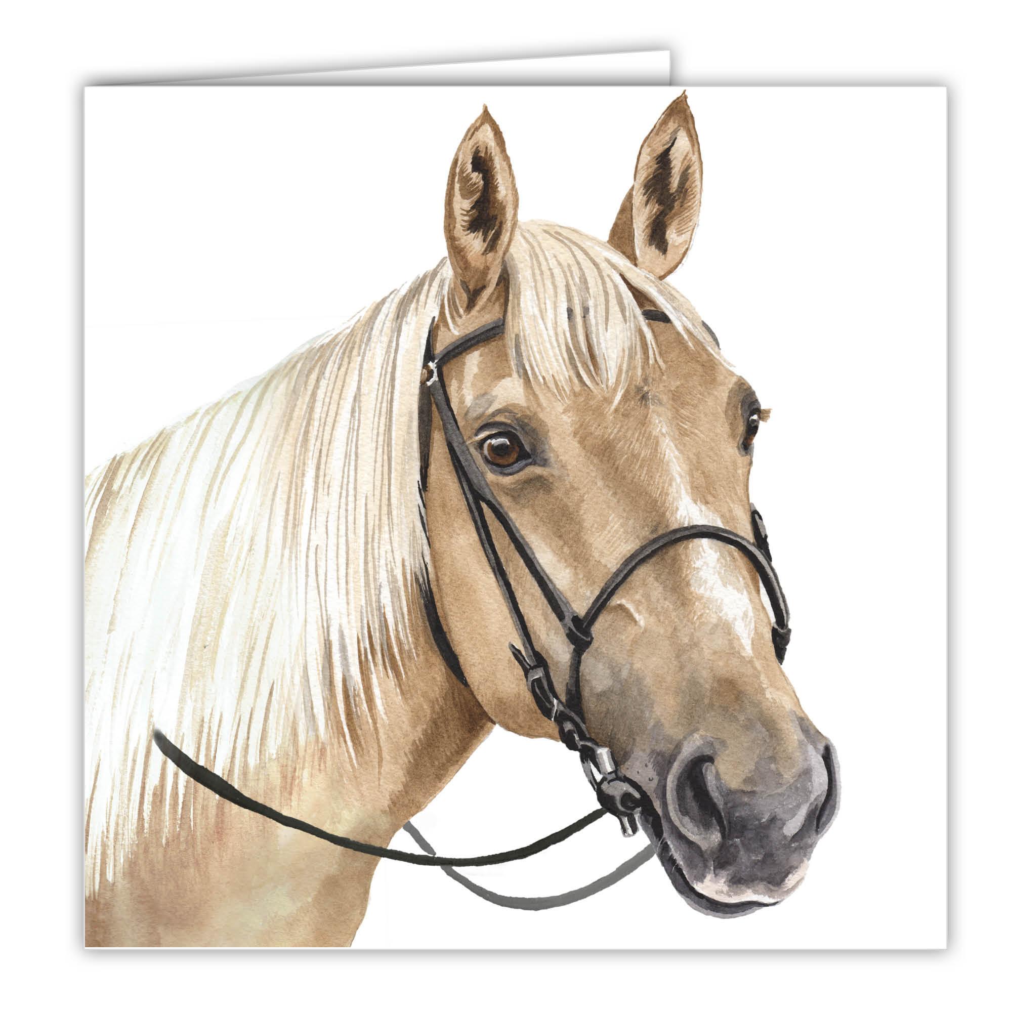 Palomino Horse Art Card Greetings Card Ac Eq04 Waggydogz