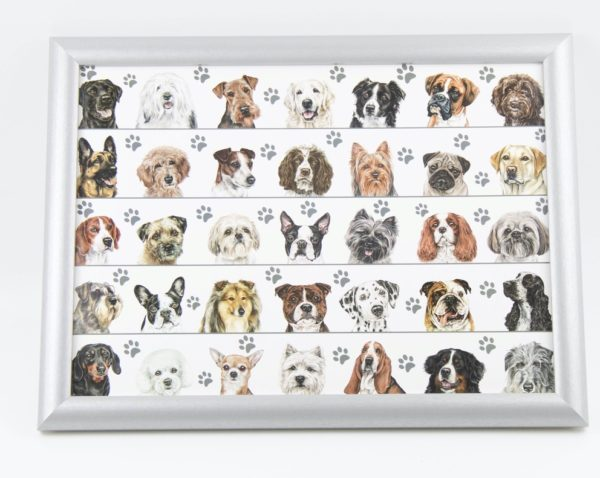 Dogs In Lines Lap Tray (VLT-LD01)