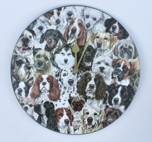 Viceni Dog Montage Wall Clock VCLK-MDGS