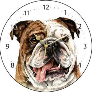British Bulldog Dog Clock