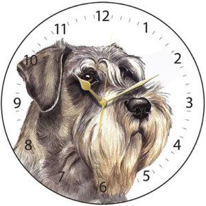 Schnauzer Dog Clock