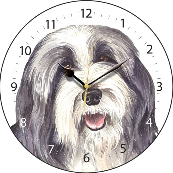 Bearded Collie Dog Clock
