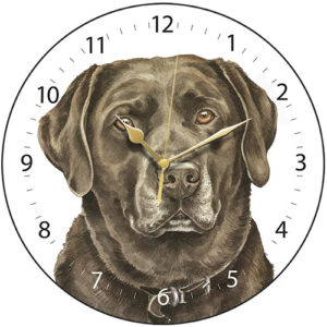 Chocolate Labrador Dog Clock