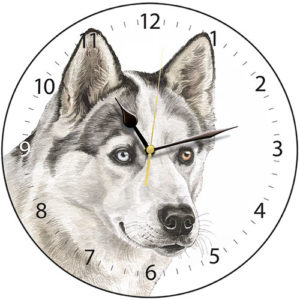 Husky Dog Clock
