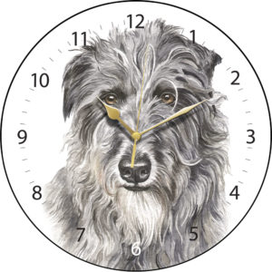 Deerhound Dog Clock