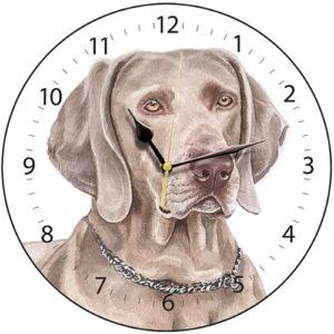 Weimaraner Dog Clock