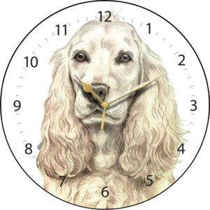 Cocker Spaniel Dog Clock