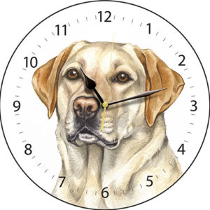 Golden Lab Dog Clock