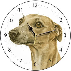 Whippet Dog Clock