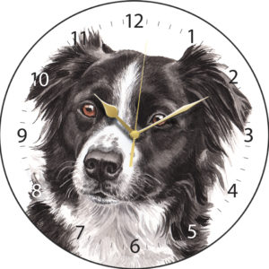 Border Collie Dog Clock