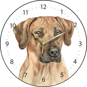 Rhodesian Ridgeback Dog Clock