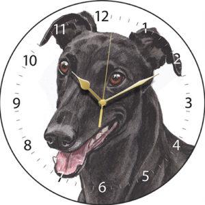 Greyhound - Black Dog Clock