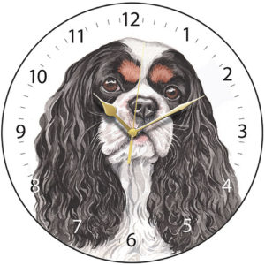 Cavalier King Charles Spaniel - Black/Tan Dog Clock