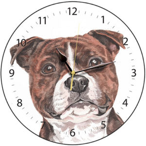 Staffordshire Bull Terrier Dog Clock