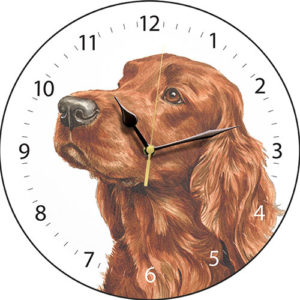 Irish Setter Dog Clock