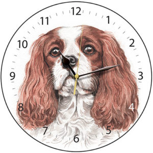 Cavalier King Charles Spaniel Dog Clock