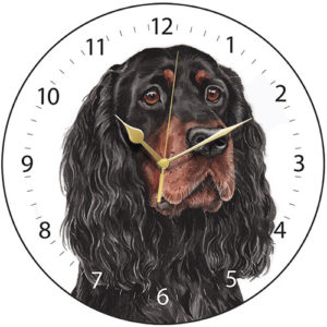 Gordon Setter Dog Clock