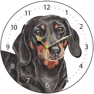 Dachshund Dog Clock