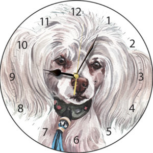 Chinese Crested Dog Clock