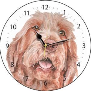 Wirehaired Hungarian Vizsla Dog Clock