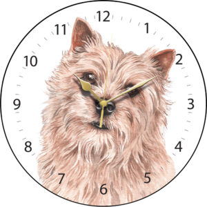 Norwich Terrier Dog Clock