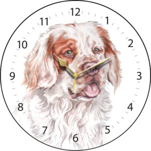 Clumber Spaniel Dog Clock