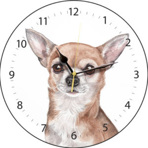 Chihuahua Dog Clock