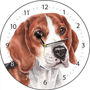 Beagle Dog Clock
