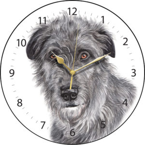 Irish Wolfhound Dog Clock