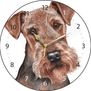 Airedale Terrier Dog Clock
