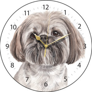 Lhasa Apso Dog Clock