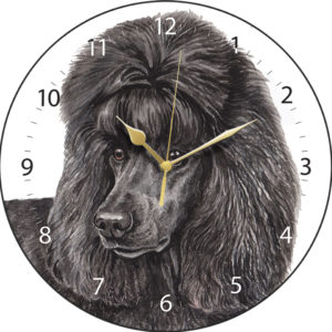 Black Poodle Dog Clock