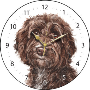 Cockapoo Dog Clock