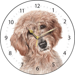 Labradoodle Dog Clock