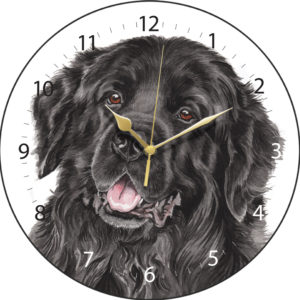 Newfoundland Dog Clock