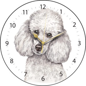 Miniature Poodle Dog Clock