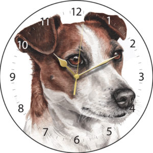 Jack Russell Dog Clock