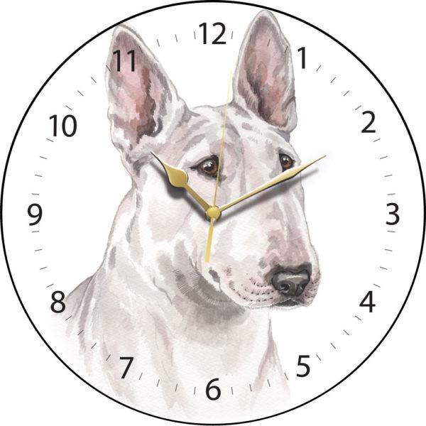 English Bull Terrier Dog Clock