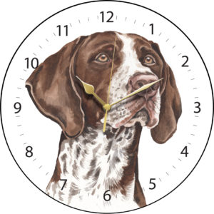 German Shorthaired Pointer Dog Clock