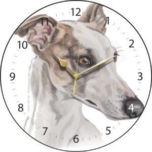 Greyhound Dog Clock