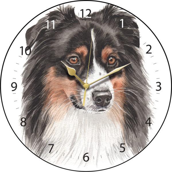 Australian Shepherd Dog Clock