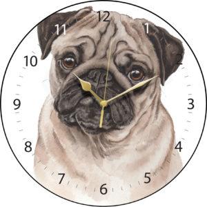 Pug Dog Clock