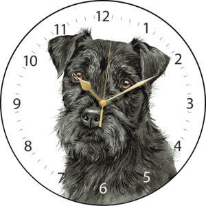 Patterdale Terrier Dog Clock