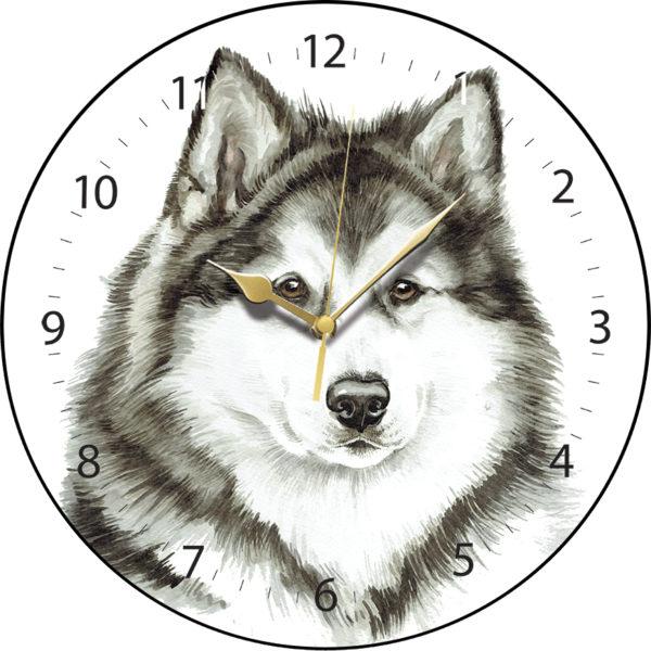Alaskan Malamute Dog Clock
