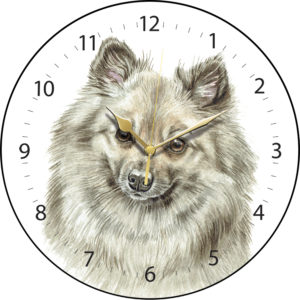 German Spitz Dog Clock