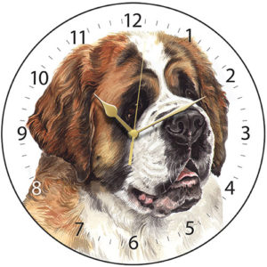 St Bernard Dog Clock